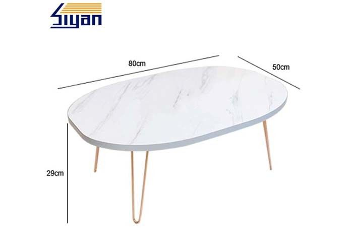White Movable Adjustable Table Top 500mm Width Intalled With Legs